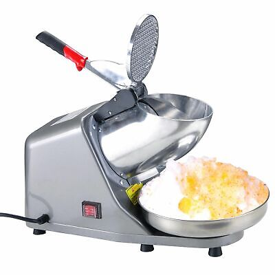 Tabletop Electric Ice Crusher Shaver Machine Snow Cone Maker Shaved Ice Home Use