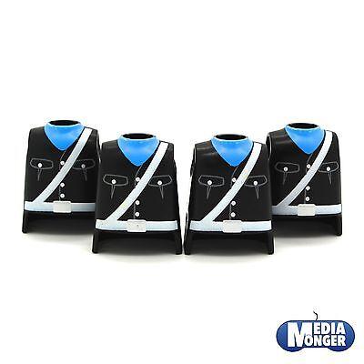 playmobil® Western Garde Piraten Polizei Soldat 4 x Oberkörper Uniform schwarz
