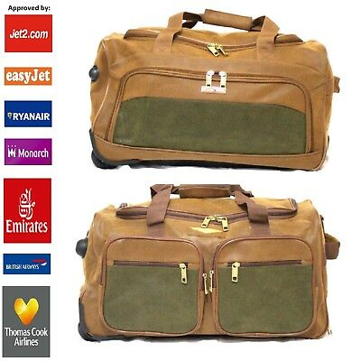 "Lightweight Cabin Size Bag Wheeled 20"" Holdall Airline Hand Luggage Ryanair"