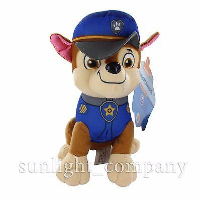 "New Nickelodeon Paw Patrol 8"" Chase Pup Pals Stuffed Plush Doll Kids Gift Toy"