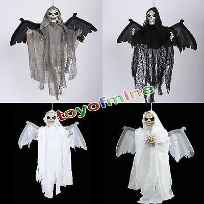 Neue Sound Control Gruselig Scary Animierte Skeleton Ghost Halloween Dekoration