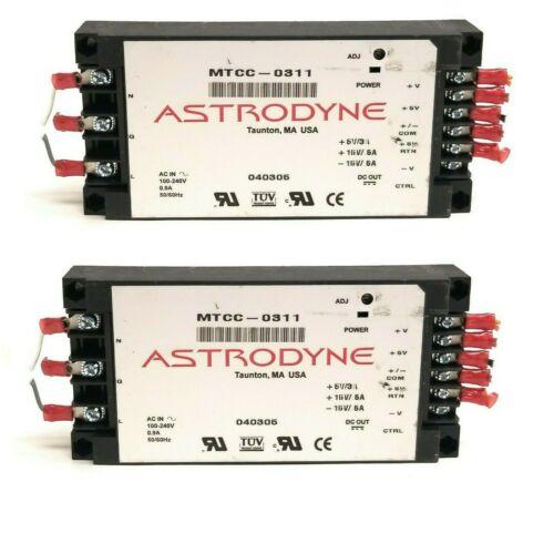Lot of 2 Astrodyne 30W Miniature Switching Power Supply MTCC-0311 Triple Output