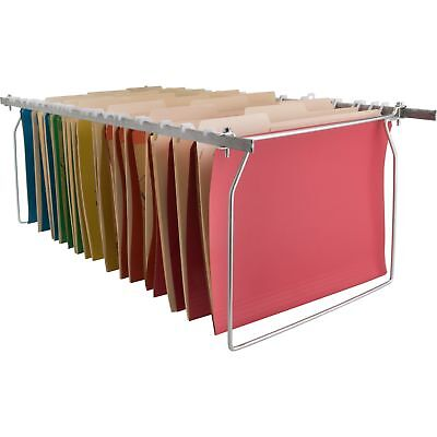 Business Source Hanging File Folder Frames Letter Stainless Steel 60529
