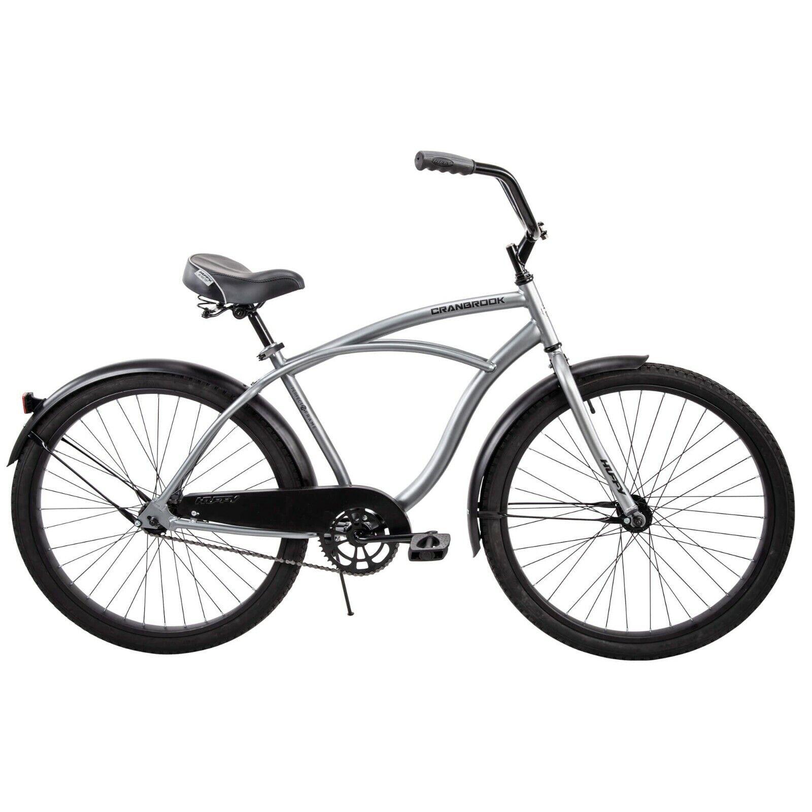 "Huffy 26"" Cranbrook Men's Beach Cruiser Comfort Bike, Silver"