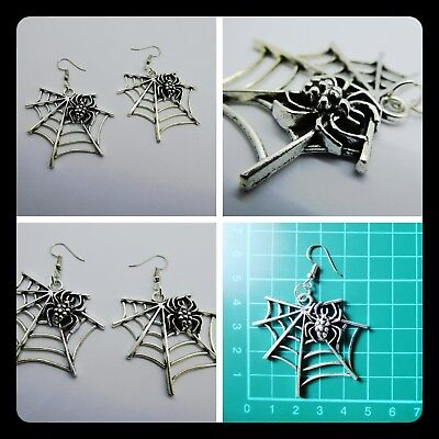 gs,Halloween,Scary,BoHo,Unique,Spider,Drop,Pierced,Gift Idea (Halloween Ideas, Scary)