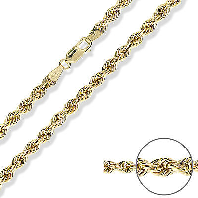 9CT GOLD ROPE CHAIN ITALIAN ROPE BRACELET PENDANT NECKLACE GIFT BOXED