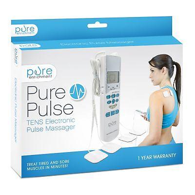 Purepulse Electronic Pulse Massager - Portable Handheld Tens Unit Muscle