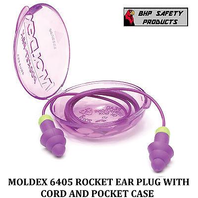 Moldex Rockets 6405 Corded Reusable Ear Plugs Purple Nrr 27 1 Pair