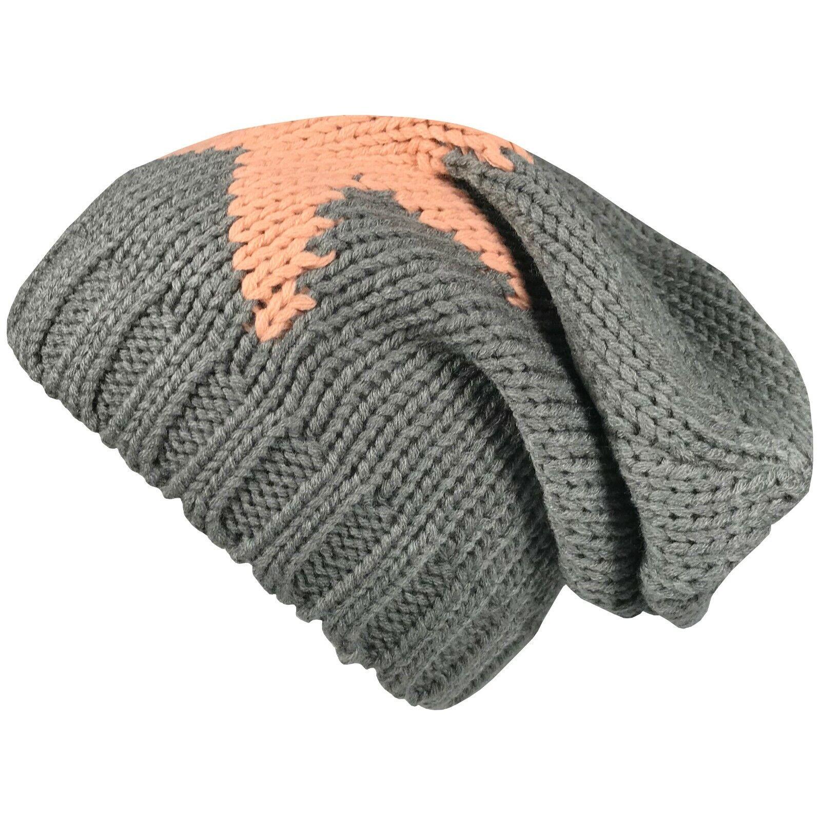 Strickmütze Herren Damen Cap Wintermütze Wollmütze Mütze Beanie Slouch Skimütze