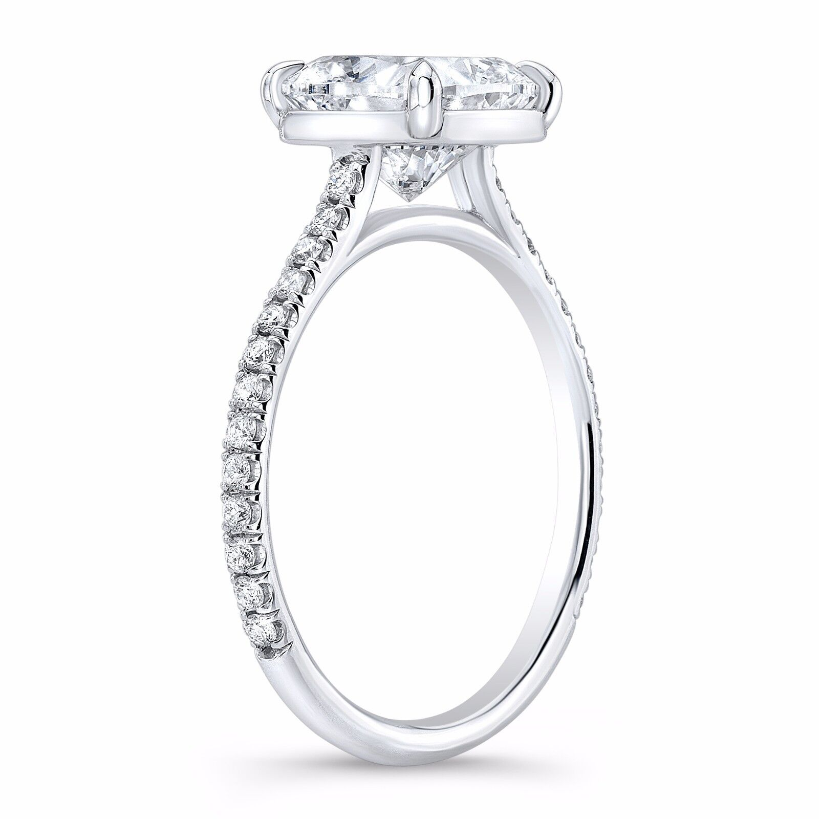 1.50ctw Natural Cushion Pave Diamond Engagement Ring - GIA Certified 2