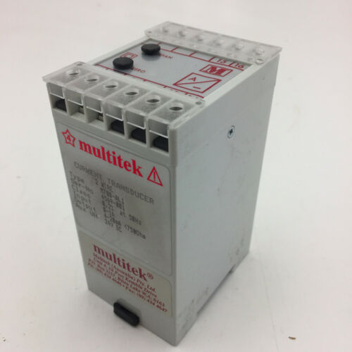 MULTITEK M700-AL1 Current Transducer 2 Wire In 0-1A Out 4-20mA Supply 24VDC