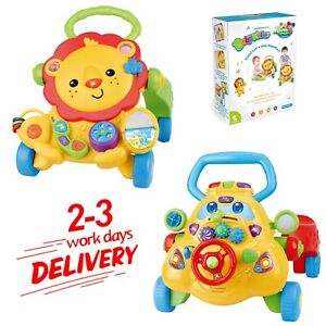 Baby Walker Learning First Steps Push Along Ride On Car Activity Play Toys UK