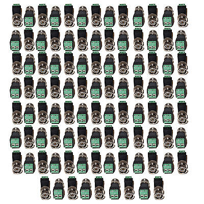 100 Pcs Screw Terminal  CAT5 To Camera CCTV BNC Video Balun Connector