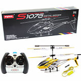 Syma S107G Phantom 3.5CH Mini Metal Remote Control RC Helicopter GYRO LED Yellow
