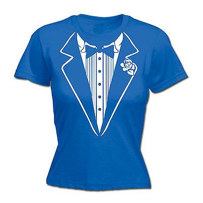 Tuxedo White WOMENS T-SHIRT tee birthday fancy dress costume ideas funny gift