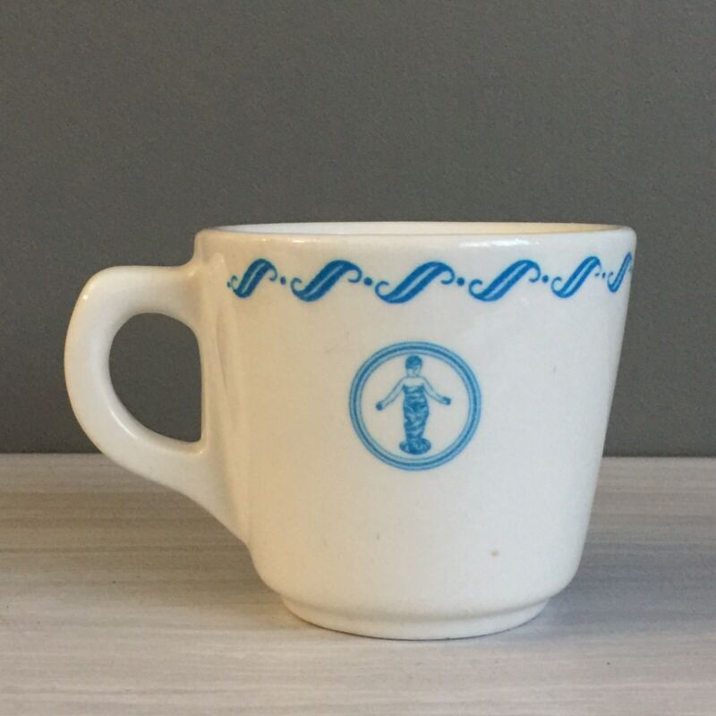 Vtg Buffalo China Resturantware Childrens Hospital NY Coffee Cup Mug Baby Logo
