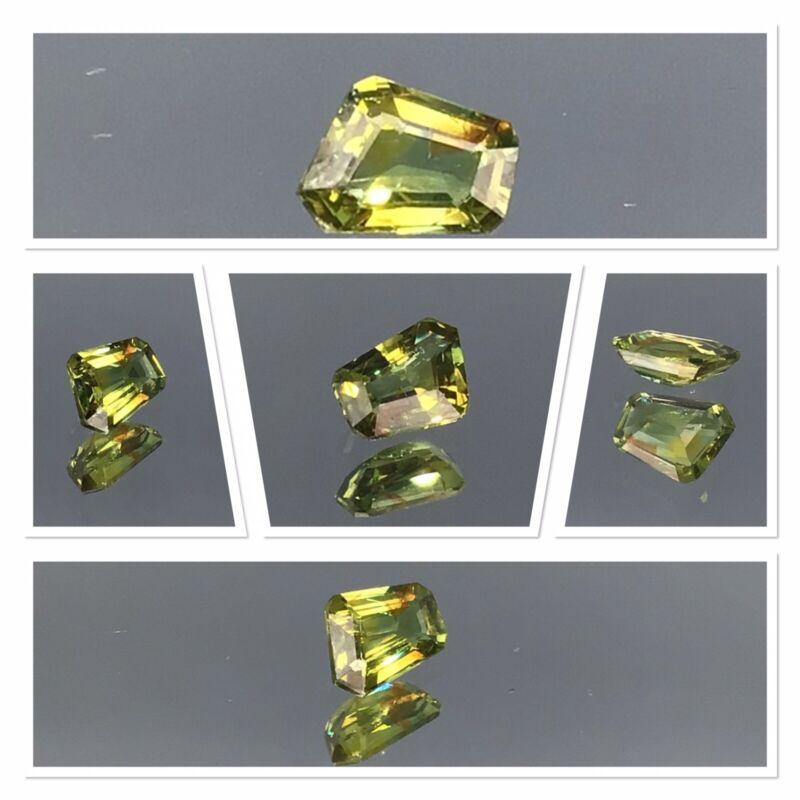 Australian Sapphire Untreated TriColour Free form Yellow Orange Green 0.90 Crt