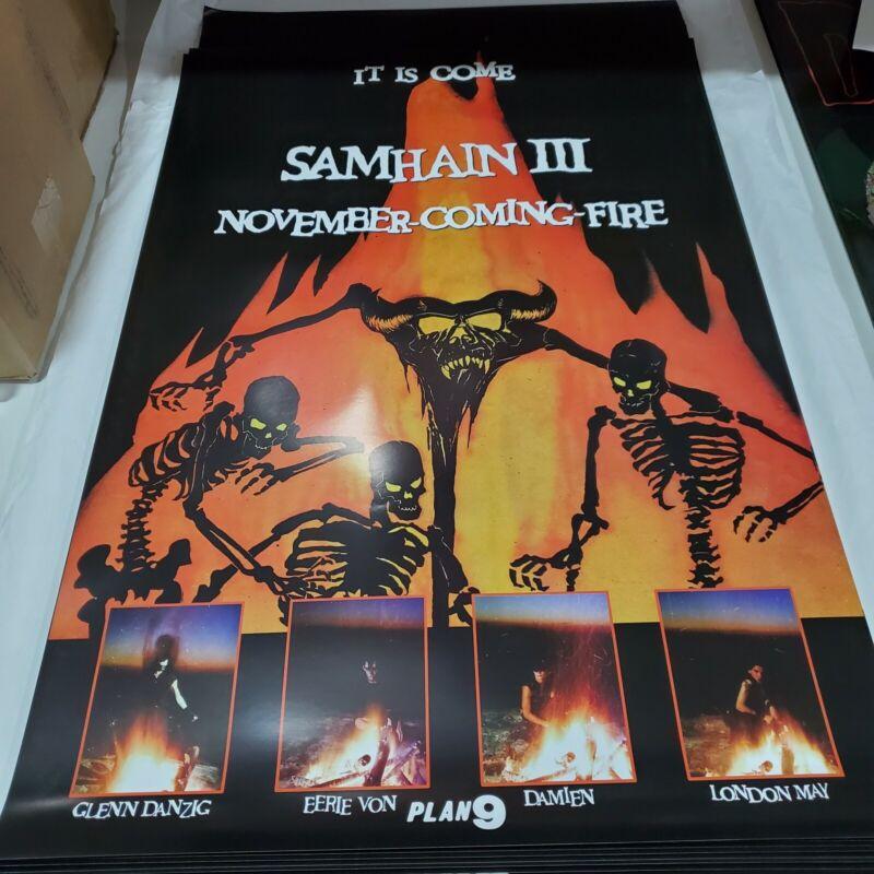 Samhain November Coming Fire 24x36 Fan Poster Danzig Misfits