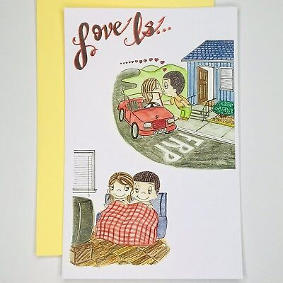 Love Is Greeting Card by Kim Casali (Valentines Day, Thinking of you) ()