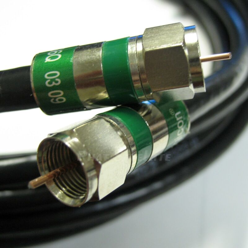 100ft PERFECT VISION 3GHZ QUAD SHIELD 75 Ohm COAXIAL RG6 DIRECTV APPROVED CABLE