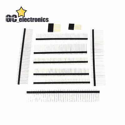 4-40p Pin Header Connector 2.02.54mm Stackable 11-20mm Long Single Malefemale
