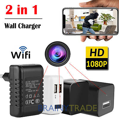 Full HD 1080P Wall Charger invisible Camera Mini WiFi Motion USB Power Adapter