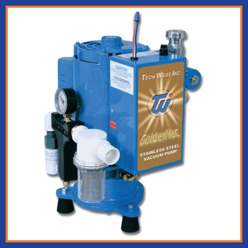 Tech West Dental Goldenvac Stainless Steel Vacuum Pump w/ Recycler VPLG5SSR