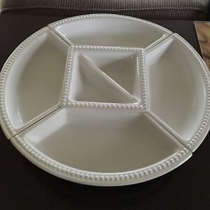 Lazy Susan with 5 ceramic dishes