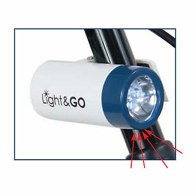 Light & Go Hands Free Safety Flashlight for Wheelchair, Walker, Cane, Rollator