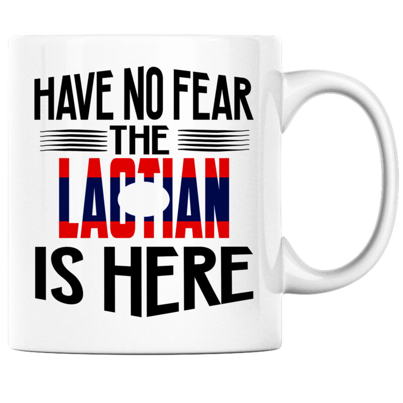 Have No Fear the Laotian is Here Funny Coffee Mug Laos Heritage Pride