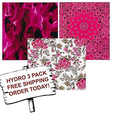 Hydrographic Film Water Transfer Printing Film Hydro Dip Pretty In Pink 3 Pack