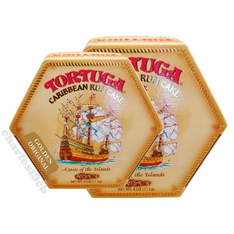 2-PACK Tortuga Caribbean Rum Cake 4oz Golden Original Flavor - Free Shipping