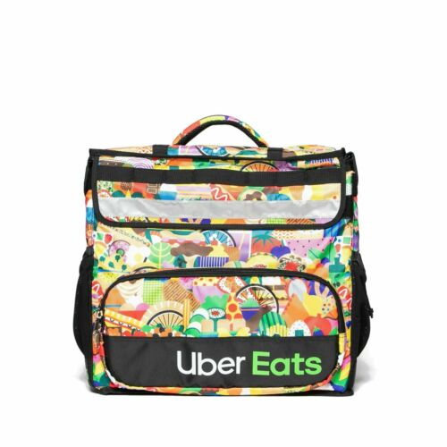 Uber Eats Delivery Insulated Backpack Limited Edition Artist Series Bag: Melanie