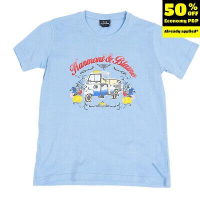 HARMONT & BLAINE JUNIOR T-Shirt Top Size 8Y Coated Front Crew Neck