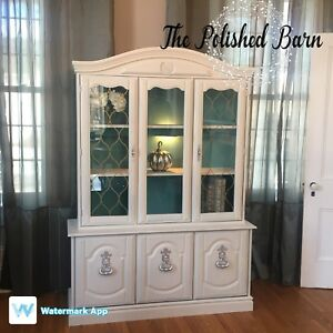 Refinished Hutch and Sideboard
