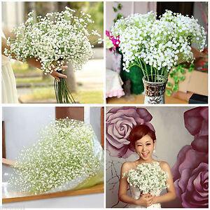 6X Artificial Flowers White Gypsophila Floral Bouquet Fake Wedding Home Decor