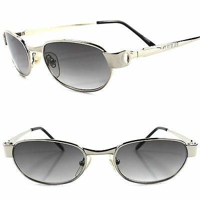 Classic Vintage Retro 80s 90s Urban Fashion Mens Silver Rectangle Sunglasses