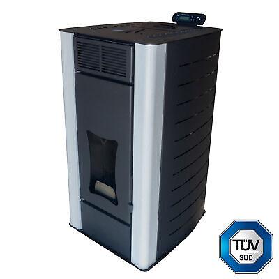 Estufa de pellets 18 kW Nemaxx PW18-BK Calentador de agua para pellets...