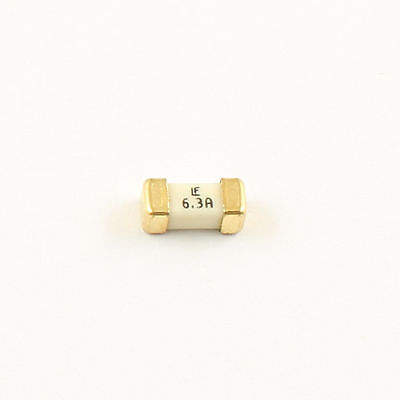 10pcs Littelfuse Fast Acting Smd Fuse 1808 6.3a 125v
