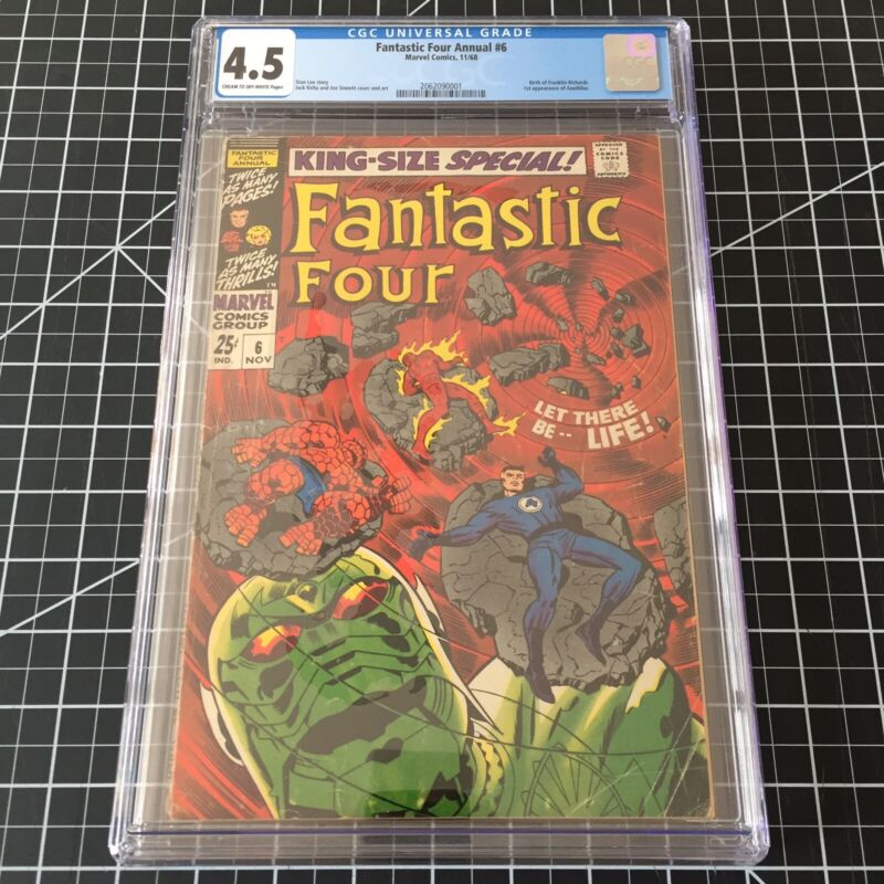 Fantastic Four Annual #6 CGC 4.5 VG+ Marvel Key  1st Appearance Annihilus
