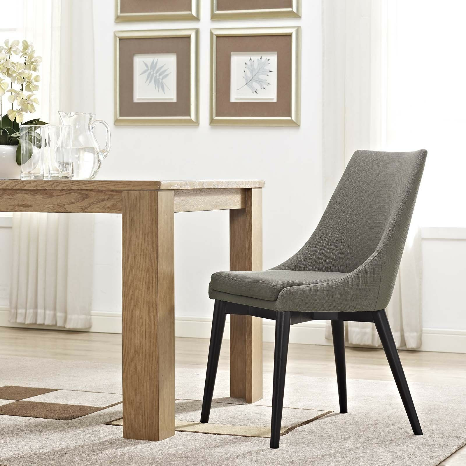 Details about mid century contemporary modern granite fabric upholstered dining side chair
