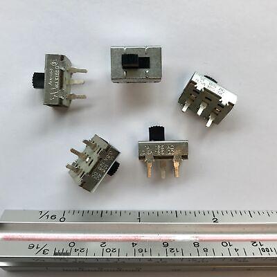 Pkg Of 5 Spdt Slide Switch 1a 125vac 0.5a 125vdc Ark-les