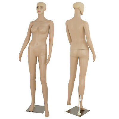 5.8 Ft Female Mannequin Egghead Plastic Full Body Dress Form Display Base New