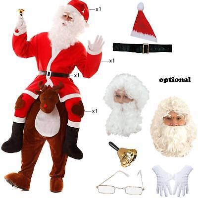 Kostüm Weihnachtsmann auf Rentier Huckepack Gr.M/L reitender Santa (Rentier Kostüm)