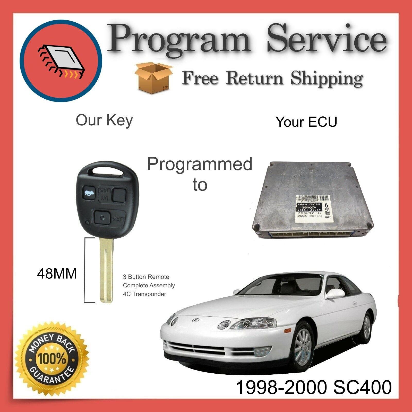 ✅ ECU Computer KEY PROGRAMMING SERVICE | Lexus SC400 1998 1999 2000 | 98 99 00
