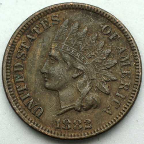 1882 Indian Head Cent - EF/XF