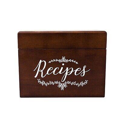 Outshine Vintage 4x6 Wood Recipe Box | Great Gift for Mom -Wedding Bridal - Bridal Shower Recipes