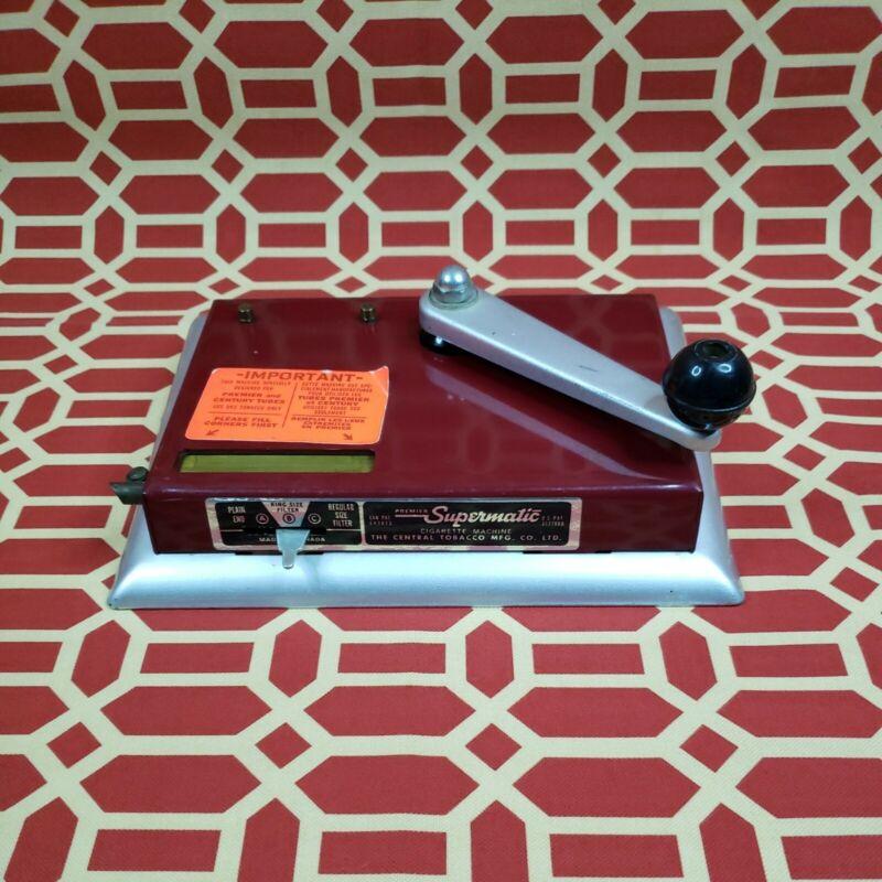 Vintage Premier Supermatic Cigarette Tobacco Joint Marijuana Rolling Machine RED