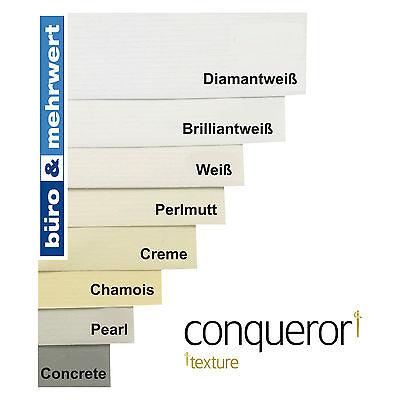 Conqueror Texture Weiß Briefumschläge DIN Lang 110x220 creme 50 Stück Römerturm