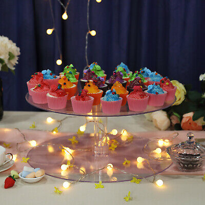 "1 Tier 18"" ACRYLIC Clear CAKE STAND Wedding Birthday Cupcake Display Cake Tower"
